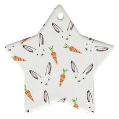 Rabbit Carrot Pattern Weft Step Star Ornament (two Sides)