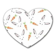 Rabbit Carrot Pattern Weft Step Heart Mousepads