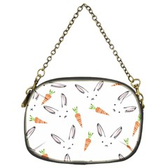 Rabbit Carrot Pattern Weft Step Chain Purses (two Sides)