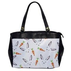 Rabbit Carrot Pattern Weft Step Office Handbags