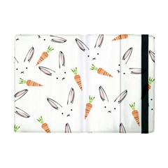 Rabbit Carrot Pattern Weft Step Apple Ipad Mini Flip Case