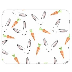 Rabbit Carrot Pattern Weft Step Double Sided Flano Blanket (medium)