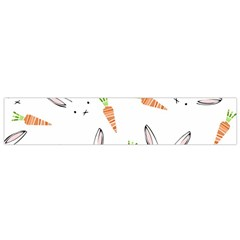 Rabbit Carrot Pattern Weft Step Flano Scarf (Small)
