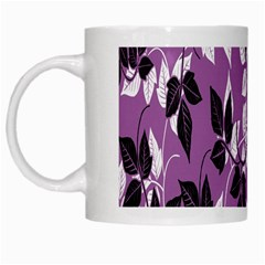 Floral Pattern Background White Mugs