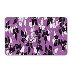 Floral Pattern Background Magnet (rectangular)