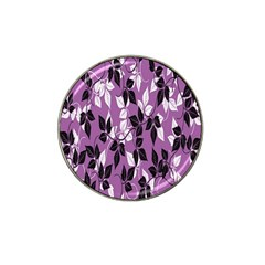 Floral Pattern Background Hat Clip Ball Marker (10 Pack)