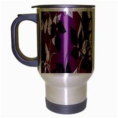 Floral Pattern Background Travel Mug (silver Gray)