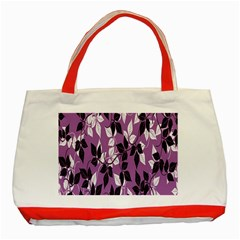 Floral Pattern Background Classic Tote Bag (red)