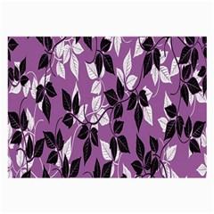 Floral Pattern Background Large Glasses Cloth (2 Side)