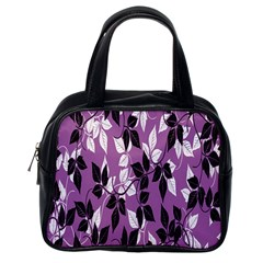 Floral Pattern Background Classic Handbags (One Side)