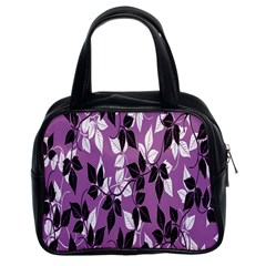 Floral Pattern Background Classic Handbags (2 Sides)