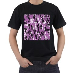 Floral Pattern Background Men s T Shirt (black)