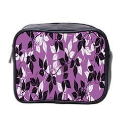 Floral Pattern Background Mini Toiletries Bag 2 Side