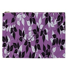 Floral Pattern Background Cosmetic Bag (XXL)