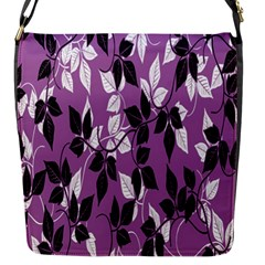Floral Pattern Background Flap Messenger Bag (s)