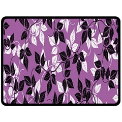 Floral Pattern Background Double Sided Fleece Blanket (large)