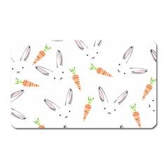 Rabbit Carrot Pattern Weft Step Magnet (rectangular)