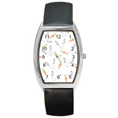 Rabbit Carrot Pattern Weft Step Barrel Style Metal Watch