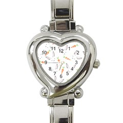 Rabbit Carrot Pattern Weft Step Heart Italian Charm Watch