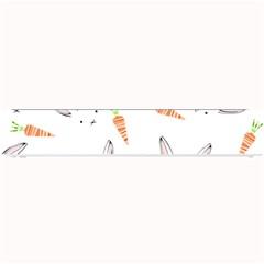 Rabbit Carrot Pattern Weft Step Small Bar Mats
