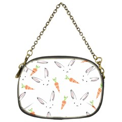 Rabbit Carrot Pattern Weft Step Chain Purses (one Side)