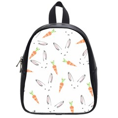Rabbit Carrot Pattern Weft Step School Bags (small)