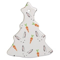 Rabbit Carrot Pattern Weft Step Christmas Tree Ornament (two Sides)