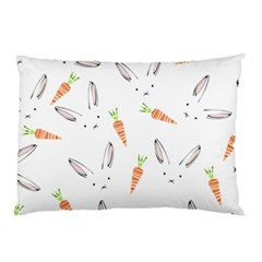 Rabbit Carrot Pattern Weft Step Pillow Case (two Sides)