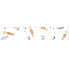 Rabbit Carrot Pattern Weft Step Flano Scarf (large)