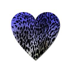 Fabric Animal Motifs Heart Magnet