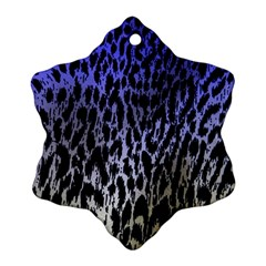 Fabric Animal Motifs Snowflake Ornament (two Sides)