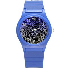 Fabric Animal Motifs Round Plastic Sport Watch (s)