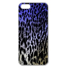 Fabric Animal Motifs Apple Seamless Iphone 5 Case (clear)