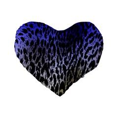 Fabric Animal Motifs Standard 16  Premium Flano Heart Shape Cushions