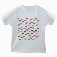 Pattern Birds Cute Design Nature Kids White T Shirts