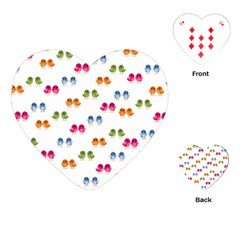Pattern Birds Cute Design Nature Playing Cards (heart)