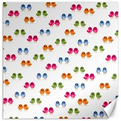 Pattern Birds Cute Design Nature Canvas 12  X 12
