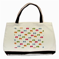 Pattern Birds Cute Design Nature Basic Tote Bag (two Sides)