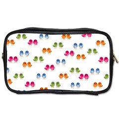 Pattern Birds Cute Design Nature Toiletries Bags 2 Side