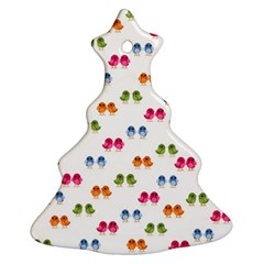 Pattern Birds Cute Design Nature Christmas Tree Ornament (two Sides)