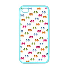 Pattern Birds Cute Design Nature Apple Iphone 4 Case (color)