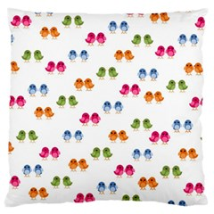 Pattern Birds Cute Design Nature Large Cushion Case (two Sides)