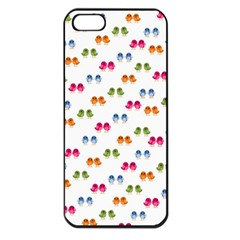 Pattern Birds Cute Design Nature Apple Iphone 5 Seamless Case (black)