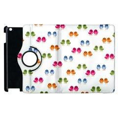Pattern Birds Cute Design Nature Apple Ipad 2 Flip 360 Case