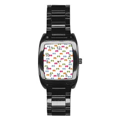 Pattern Birds Cute Design Nature Stainless Steel Barrel Watch