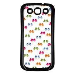 Pattern Birds Cute Design Nature Samsung Galaxy S3 Back Case (Black)