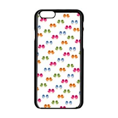 Pattern Birds Cute Design Nature Apple Iphone 6/6s Black Enamel Case