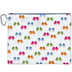 Pattern Birds Cute Design Nature Canvas Cosmetic Bag (XXXL)