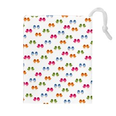 Pattern Birds Cute Design Nature Drawstring Pouches (Extra Large)
