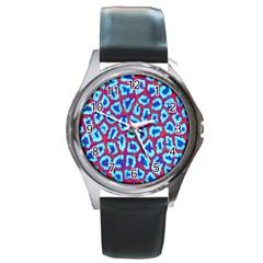 Animal Tissue Round Metal Watch